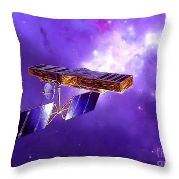 Artists Concept Of Space Interferometry Throw Pillow by Stocktrek Images