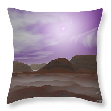 Artists Concept Of The Atmosphere Throw Pillow by Walter Myers