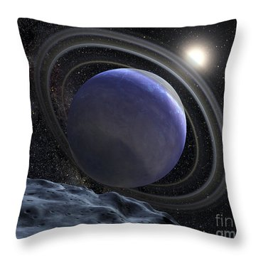 Artists Illustration Of An Extrasolar Throw Pillow by Stocktrek Images