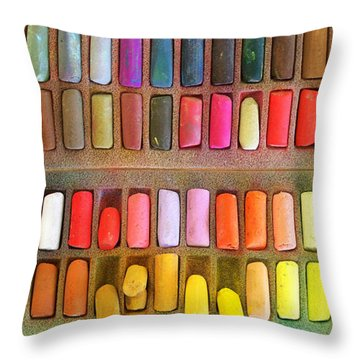 Artists Rainbow Throw Pillow