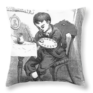 Artists Son Throw Pillow by Granger