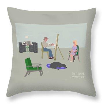 Artists Studio Throw Pillow