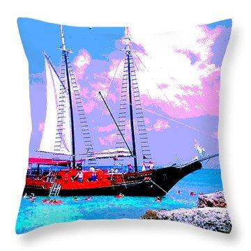 Aruba Adventure Throw Pillow by Jerome Stumphauzer