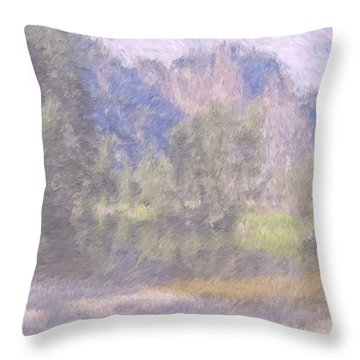 As If Monet Painted Yosemite Throw Pillow by Heidi Smith