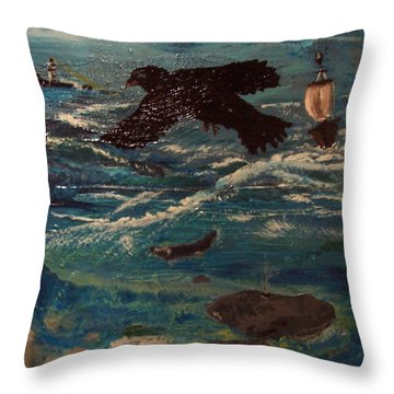 As The Crow Flys Throw Pillow