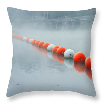 As The Fog Lifts Throw Pillow by Karol Livote