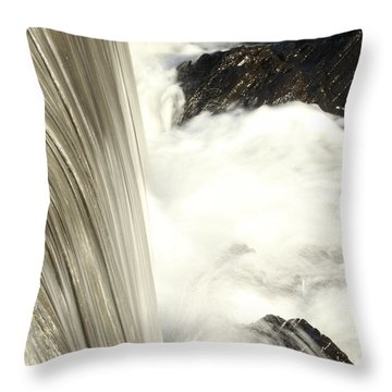 As The Water Falls Throw Pillow by Karol Livote