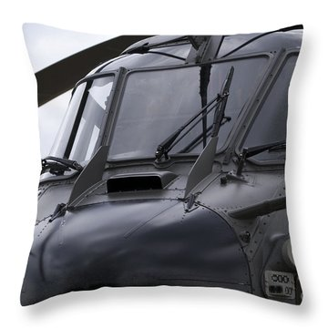 As532 Cougar Of Switzerland Air Force Throw Pillow by Ramon Van Opdorp