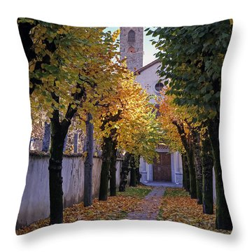 Ascona - Collegio Papio Throw Pillow by Joana Kruse