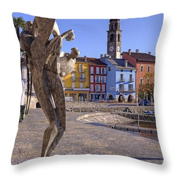 Ascona - Switzerland Throw Pillow by Joana Kruse