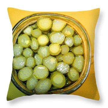 Asparagus In A Jar Throw Pillow by Kym Backland