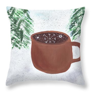 Aspen Cup Throw Pillow