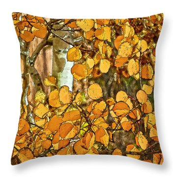 Aspens Gold Throw Pillow