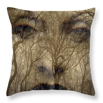 Asphalt - Portrait Of A Lady 2 Throw Pillow