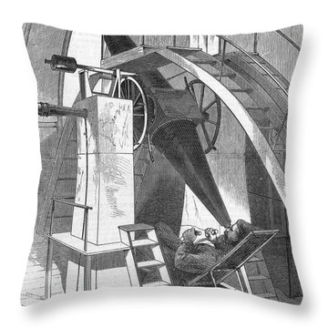Astronomer, 1869 Throw Pillow by Granger