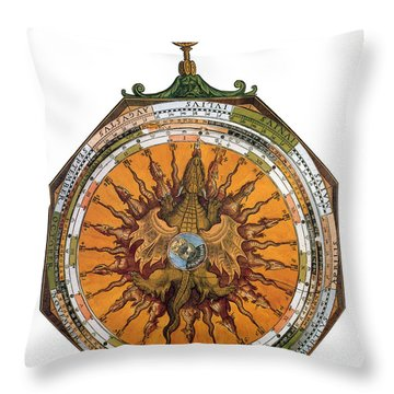 Astronomicum Caesareum With Dragon Throw Pillow by Photo Researchers