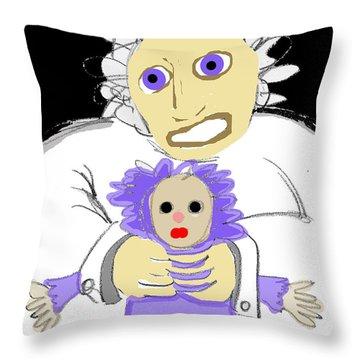 Asylum 3 Throw Pillow