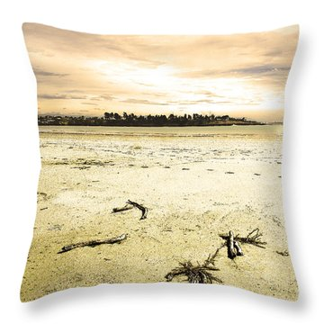 Throw Pillow featuring the photograph At Caroline Bay Timaru New Zealand by Nareeta Martin