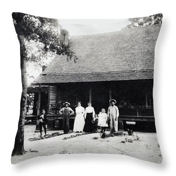 At Home  Throw Pillow by Susan Leggett