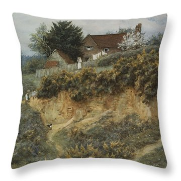 At Sandhills Witley Throw Pillow by Helen Allingham