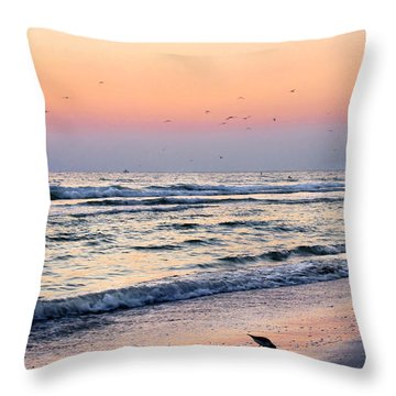 At Sunset Throw Pillow by Angela Rath