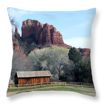 At The Base Throw Pillow by Debbie Hart