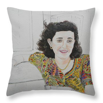 At The Cafe' Centrale Throw Pillow