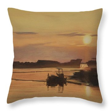 At The End Of It's Day Throw Pillow