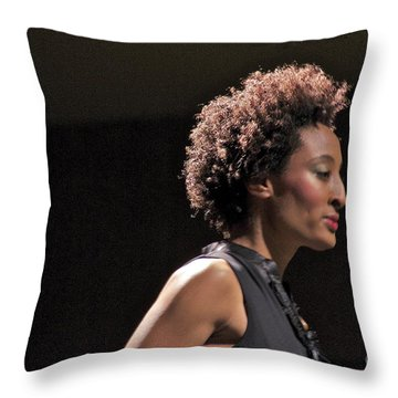 At The Fashion Show Throw Pillow by Sean Griffin
