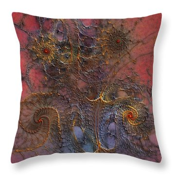 Throw Pillow featuring the digital art At The Moment by Casey Kotas