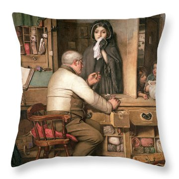 At The Pawnbroker Throw Pillow by Thomas Reynolds Lamont