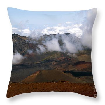 At The Rim Of The Crater Throw Pillow by Patricia Griffin Brett