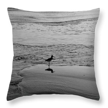 At Twilight In Black And White Throw Pillow by Suzanne Gaff