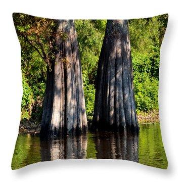 Atchafalaya Basin 53 Throw Pillow by Maggy Marsh