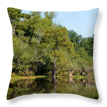 Atchafalaya Basin 7 Throw Pillow