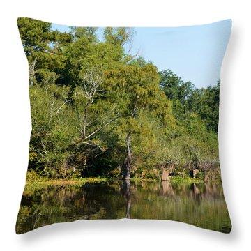 Atchafalaya Basin 7 Throw Pillow by Maggy Marsh