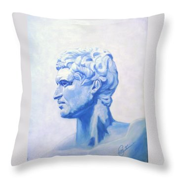 Athenian King Throw Pillow