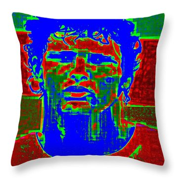 Athlete Throw Pillow by Randall Weidner