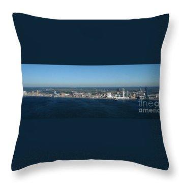 Atlantic City Skyline Panoramic Throw Pillow