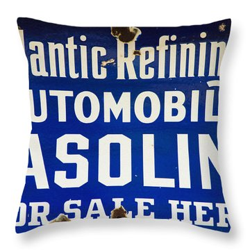 Atlantic Refining Co Sign Throw Pillow by Bill Cannon