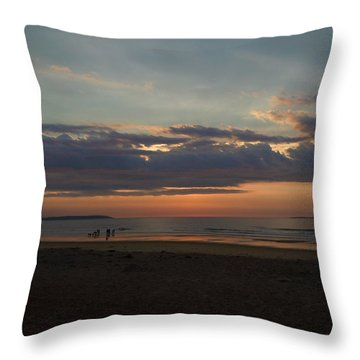 Atlantic Sunrise Throw Pillow by Nancy Griswold