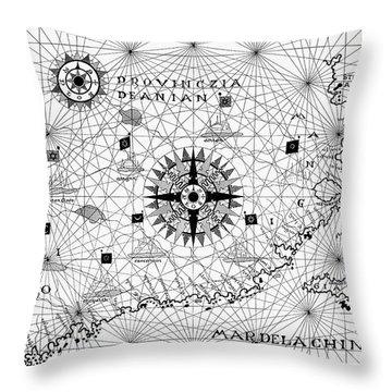 Atlas, 16th Century Throw Pillow
