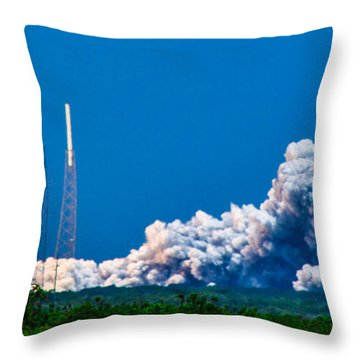 Atlas Launch Throw Pillow by Shannon Harrington