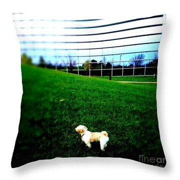 Atsuko Goes To School Throw Pillow by Xn Tyler