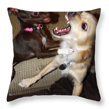 Attack Dogs Throw Pillow