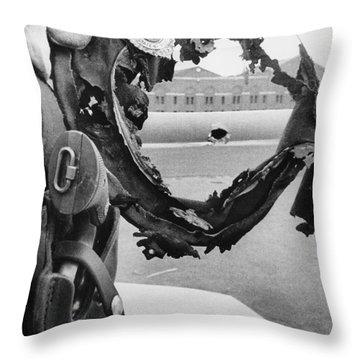 Attica Prison Riot, 1971 Throw Pillow by Granger