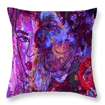 Attraction Throw Pillow by Natalie Holland