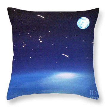 August Celestial Trinity Throw Pillow by Alys Caviness-Gober