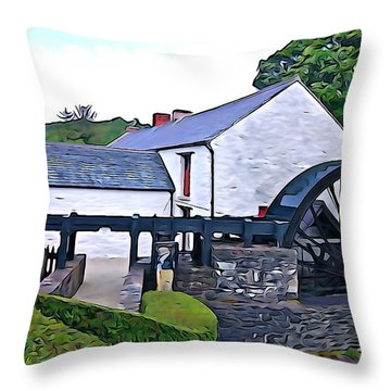 Throw Pillow featuring the photograph Auld Mill  by Charlie and Norma Brock