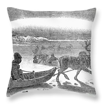 Aurora Borealis, 1833 Throw Pillow by Granger